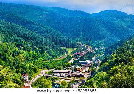 View of Hornberg village in Schwarzwald mountains - Baden Wurttemberg, Germany