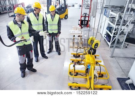 Workers And Lifting Device