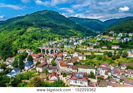 View of Hornberg village in Schwarzwald mountains - Baden Wurttemberg, Germany