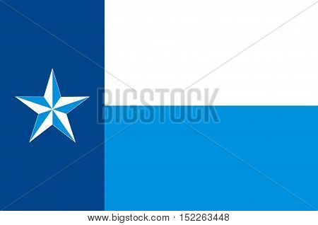 Flag of Dallas County Texas of USA