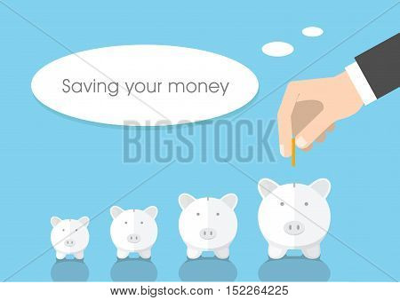 Concepts for finance stock market and business investing making money profit piggy bank.