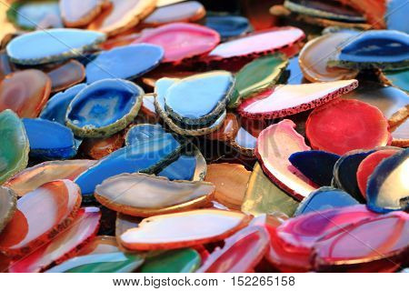 Color Agate Mineral Collection