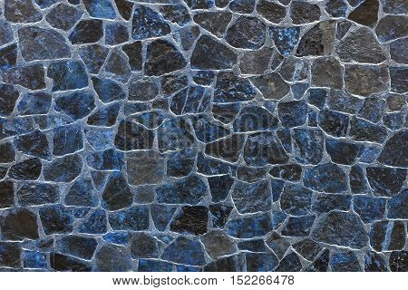 blue stone texture mosaic and abstract background or wallpaper