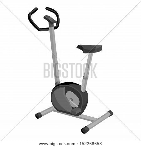 Exercise bike icon monochrome. Single sport icon from the big fitness, healthy, workout monochrome.