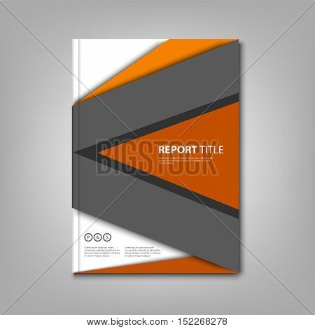 Brochures book or flyer with abstract design triangles template vector eps 10