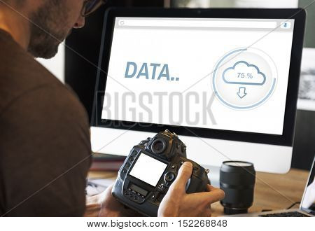 Data The Cloud Storage Information Concept