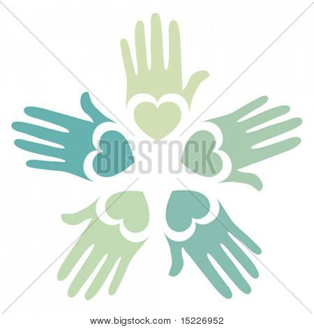 Loving hands design.