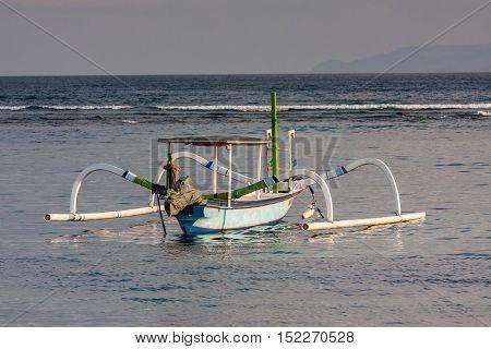 Traditional Bali Fishermen Boat