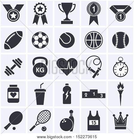 Sports icon collection. Vector illustration Eps 10