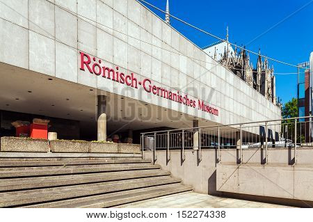 Cologne, Germany - April 9, 2008: Building Of Romano-germanic  Museum