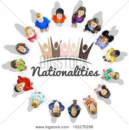 Diversity Nationalities Unity Togetherness Graphic Concept