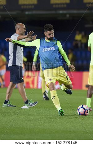 VILLARREAL, SPAIN - OCTOBER 16th: Alvaro during La Liga soccer match between Villarreal CF and R.C. Celta de Vigo at El Madrigal Stadium on October 16, 2016 in Villarreal, Spain
