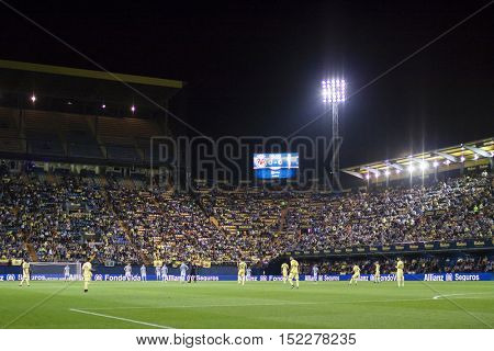 VILLARREAL, SPAIN - OCTOBER 16th: The Stadium during La Liga soccer match between Villarreal CF and R.C. Celta de Vigo at El Madrigal Stadium on October 16, 2016 in Villarreal, Spain