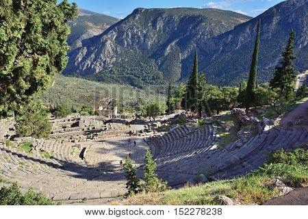 The Theatre In Delphi, Greece