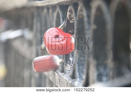 heart shaped padlock like a symbol of love, Valentines Day