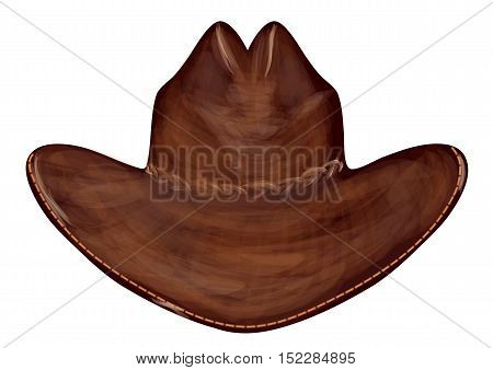 cowboy hat isolated on a white background