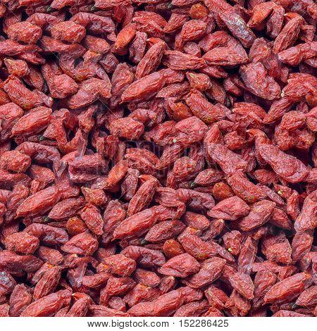 Seamless pattern of the dried goji berries