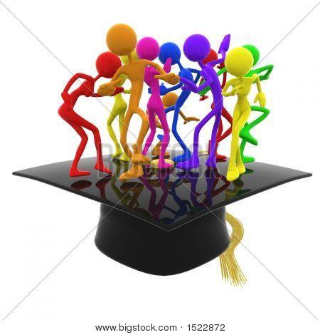 Full Spectrum Dance Party Graduation Celebration Concept