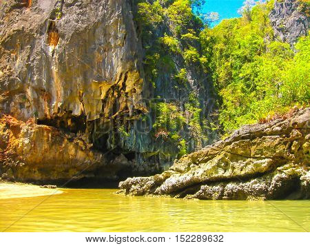 The Phang Nga National Park in Thailand