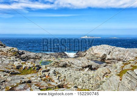 Mountain landscape in green wally with crystal river and stones