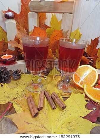 Autumn Composition, Cup Of Red Tea