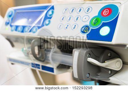 syringe pump in intensive care unit