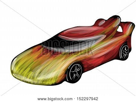 race car isolated on a white background