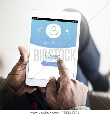 User Account Profile Registration Concept