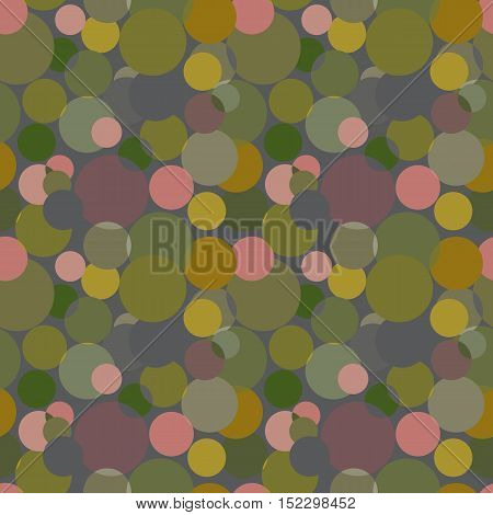 Abstract seamless pattern with circles in soft pastel colors. Geometry pattern for fabric. Textile background. Stock vector.