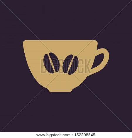 The coffee and cup icon. Coffee And Cup symbol. Flat Vector illustration