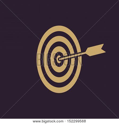 The target icon. Target symbol. Flat Vector illustration
