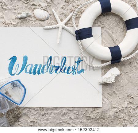 Wanderlust Snorkeling Lifebuoy Diving Adventure Activity Concept