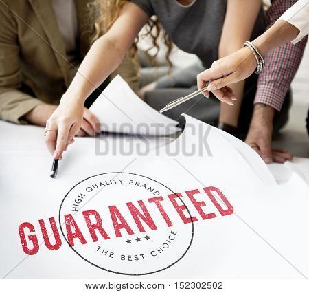 Business People Guaranteed Assurance Concept