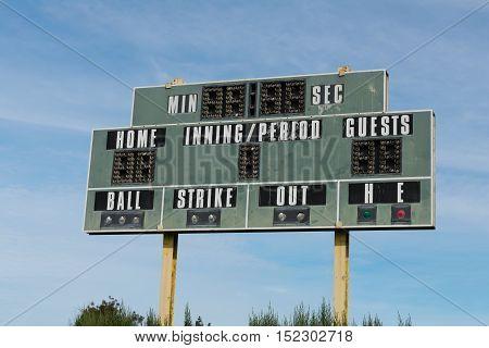 Scoreboard And Sky