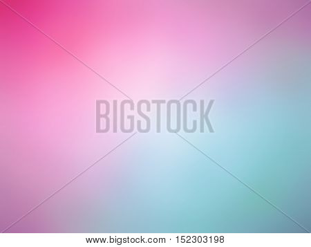 Abstract Gradient Pink Teal White Colored Blurred Background