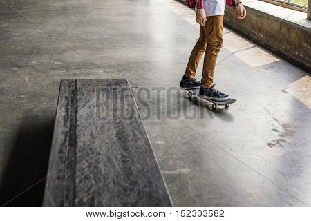 Skateboard Extreme Sport Skater Park Recreational Activity Concept