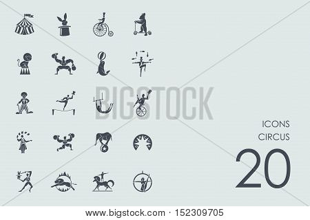 circus vector set of modern simple icons