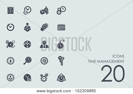 time management vector set of modern simple icons