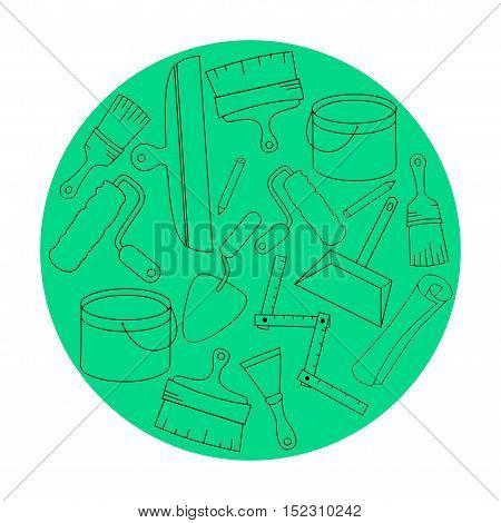 Wallpaper DIY shop logotype design templates. Modern easy to edit logo template. Vector logo design series.