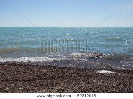 warm sand and summer sea