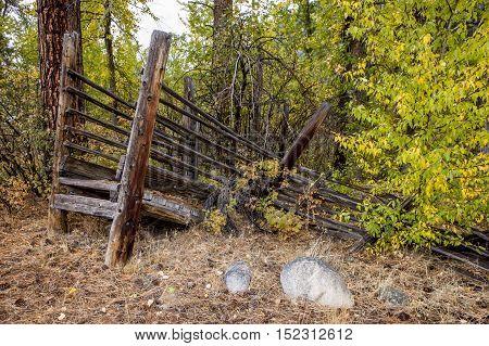 Old livestock ramp in Okanogan county near Winthrop Washington.