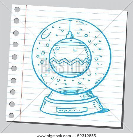 Christmas ball in snow globe