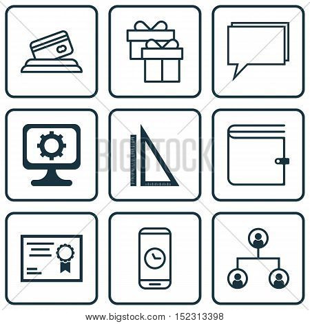 Set Of 9 Universal Editable Icons For Computer Hardware, Education And Airport Topics. Includes Icon