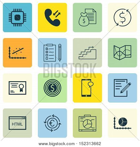 Set Of 16 Universal Editable Icons For Project Management, Human Resources And Marketing Topics. Inc