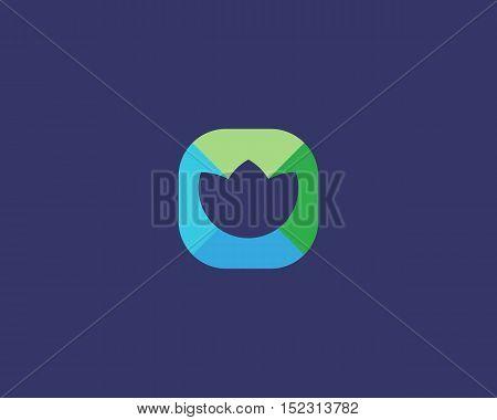Abstract flower logo design. Creative medical symbol. Universal vector icon. Lotus yoga spa sign