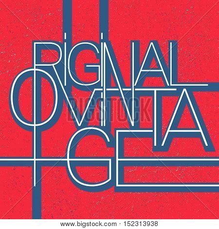 Original vintage typography stamp. T-shirt print design. Vector Illustration.