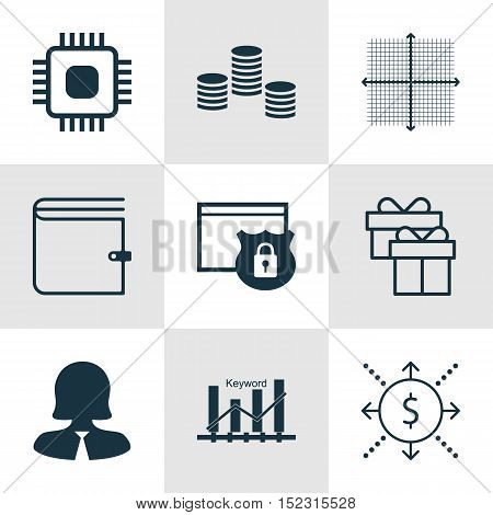 Set Of 9 Universal Editable Icons For Statistics, Airport And Marketing Topics. Includes Icons Such