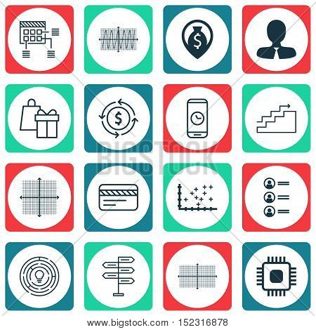 Set Of 16 Universal Editable Icons For Human Resources, Travel And Airport Topics. Includes Icons Su