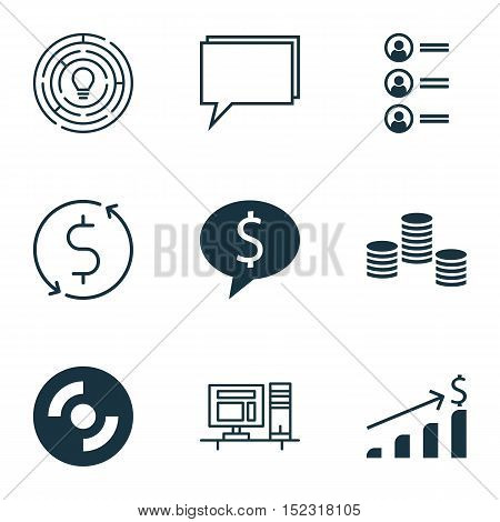 Set Of 9 Universal Editable Icons For Marketing, Airport And Computer Hardware Topics. Includes Icon