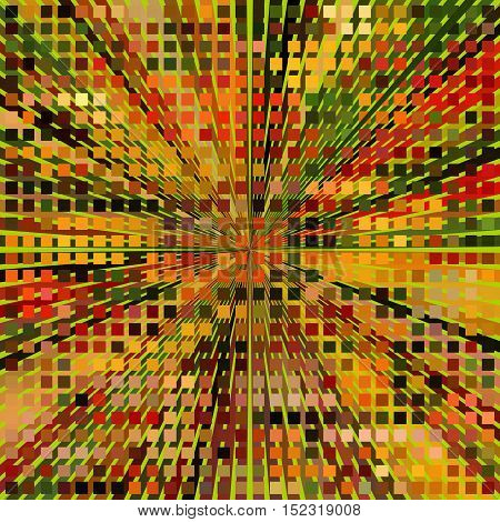 Autumn Mosaic. The mosaic pattern in yellow-green range of colors for decoration.